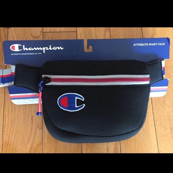 1de61fd978f Champion Handbags - New champion attribute waist pack fAnny pack BLACK